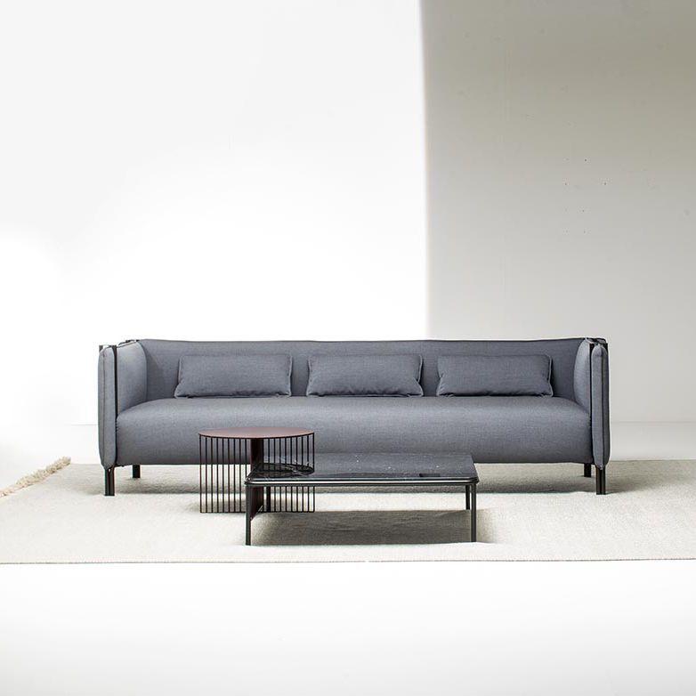 Contemporary Sofa / Fabric / Leather / Metal ...
