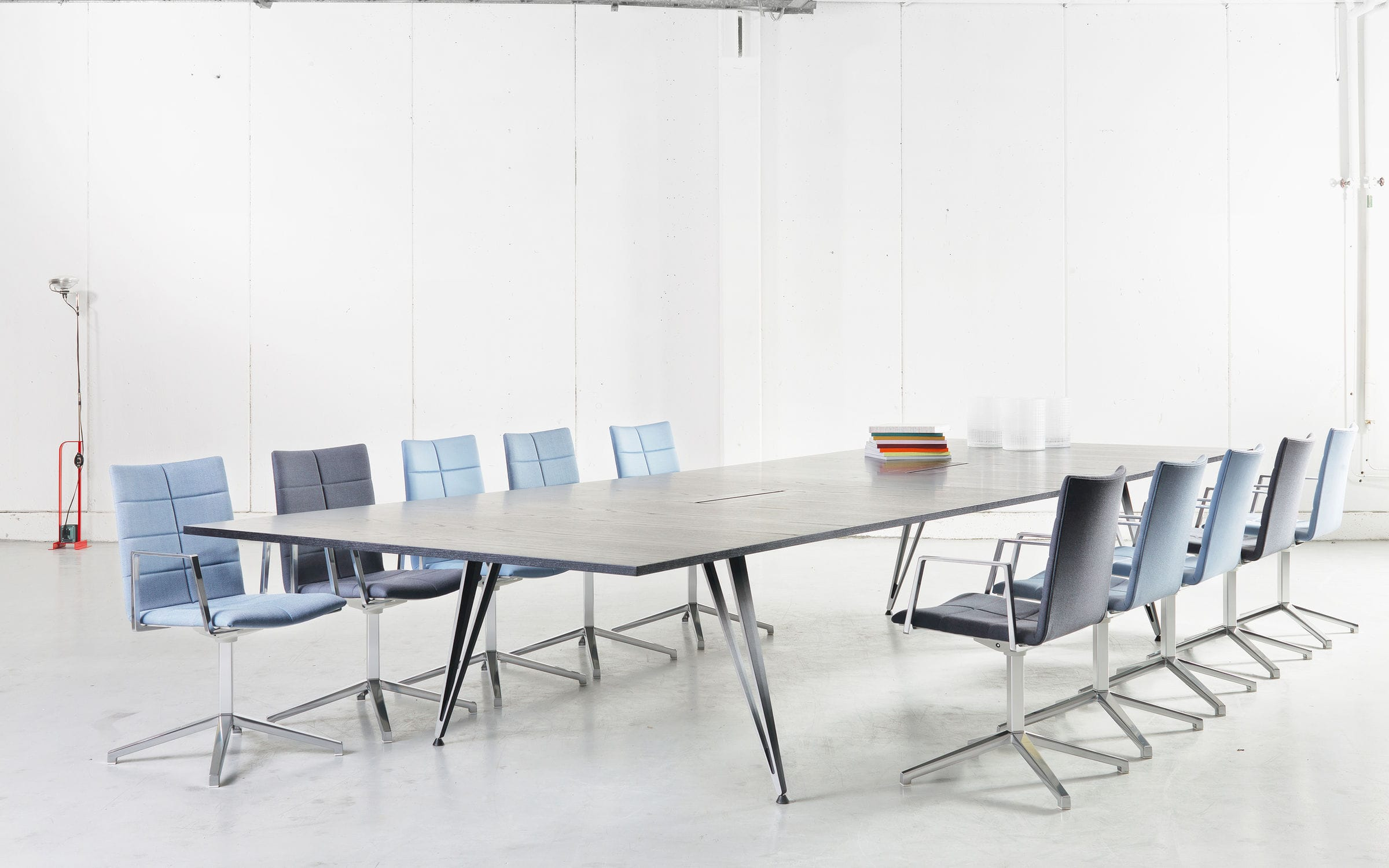 Contemporary Conference Table Ash Linoleum Laminate Attach By Troels Grum Schwensen