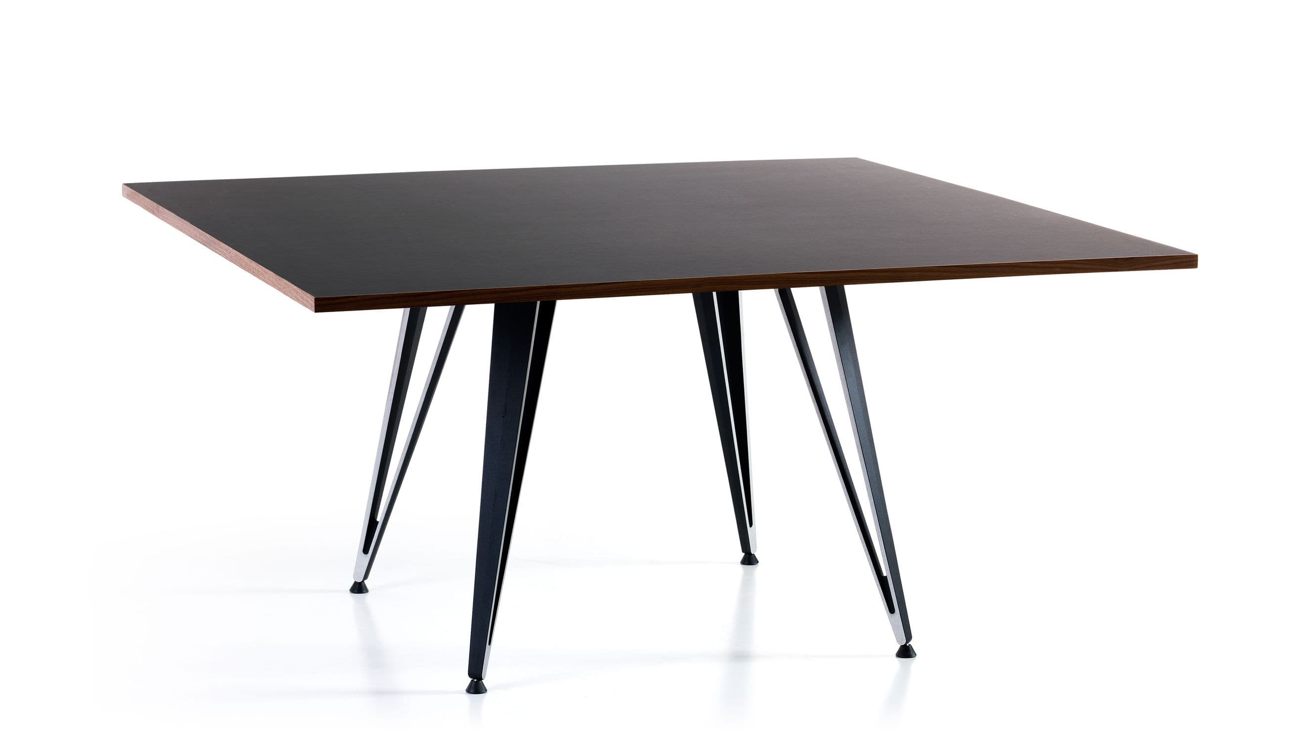 Contemporary table ash linoleum laminate ATTACH by Troels