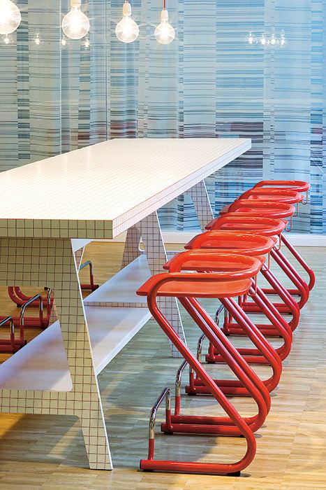 Möbel Lindau contemporary bar stool plywood birch steel s70 3 by börge