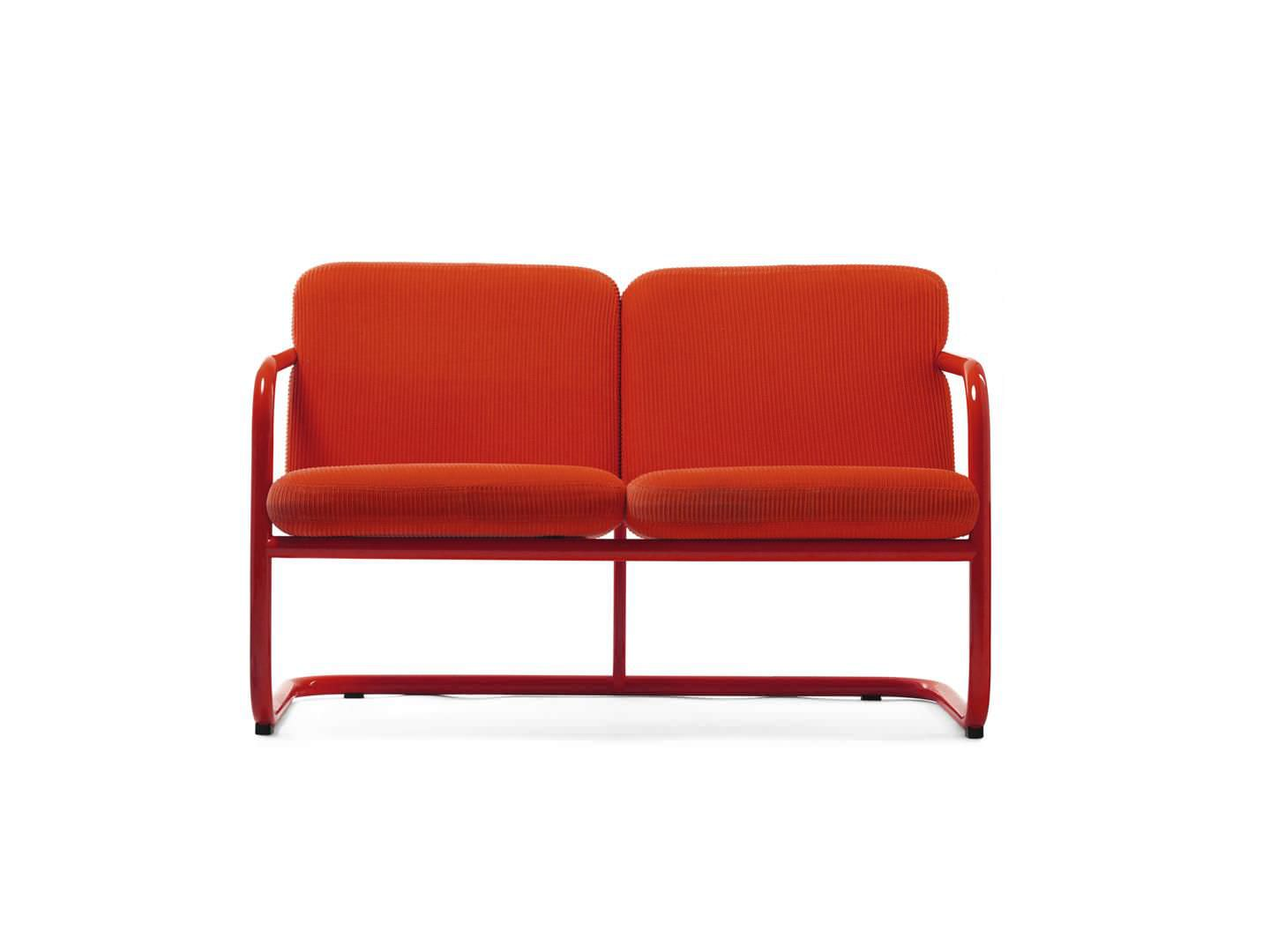 Möbel Lindau contemporary upholstered bench fabric leather steel s70 5 by