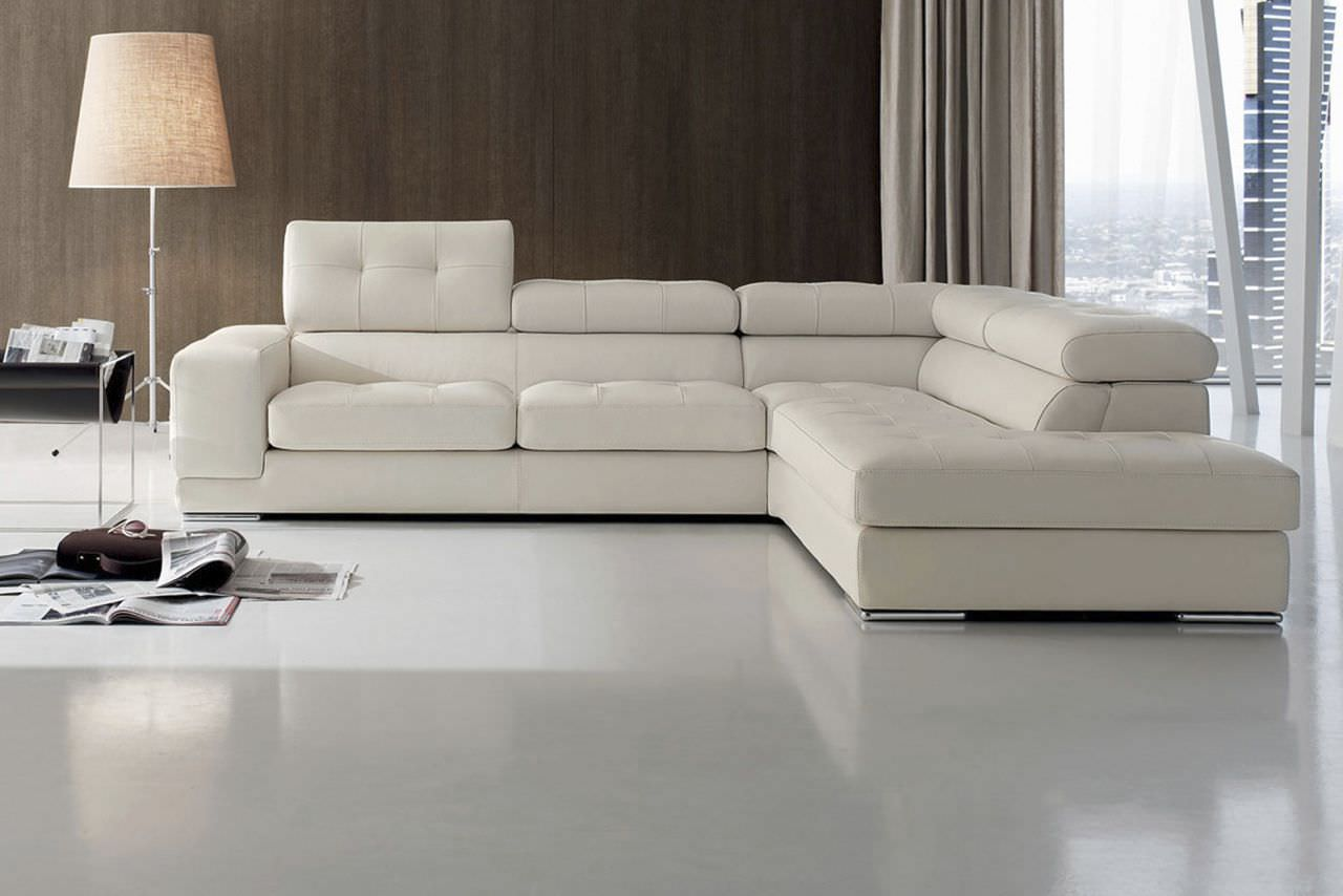 Corner Sofa Contemporary 4 Seater With Headrest Floor 874
