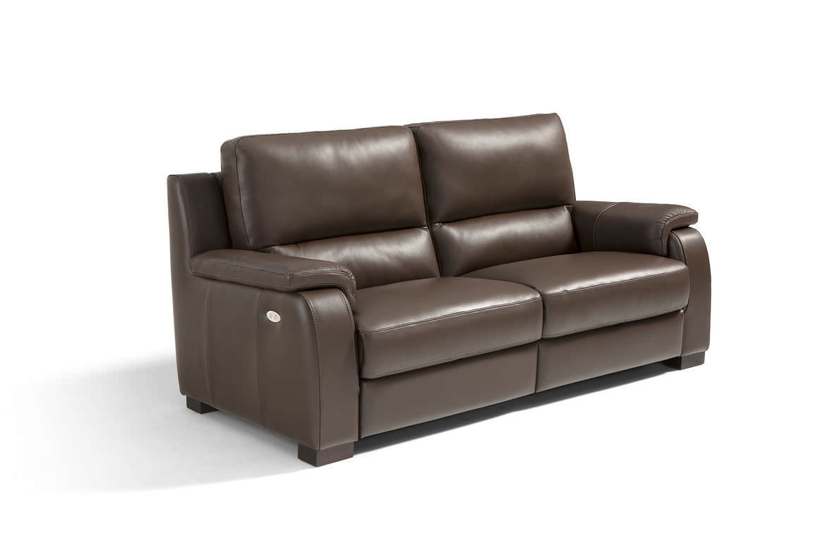 Contemporary Sofa Leather 3 Seater With Footrest Carrera By D Abbruzzese