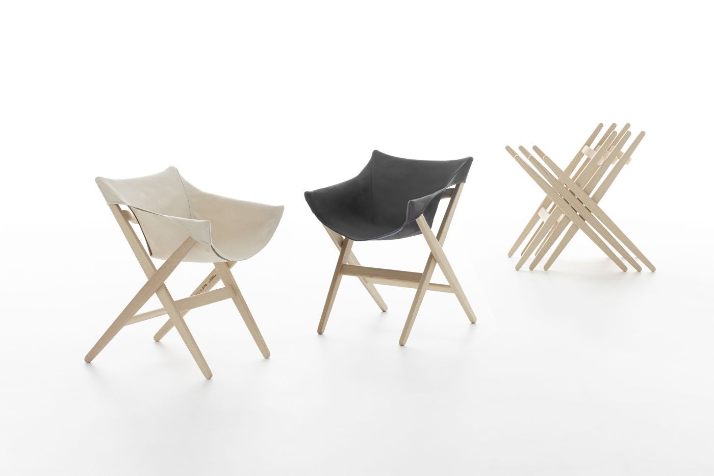 Contemporary Dining Chair Stackable Wooden By Jasper Morrison FIONDA Mattiazzi