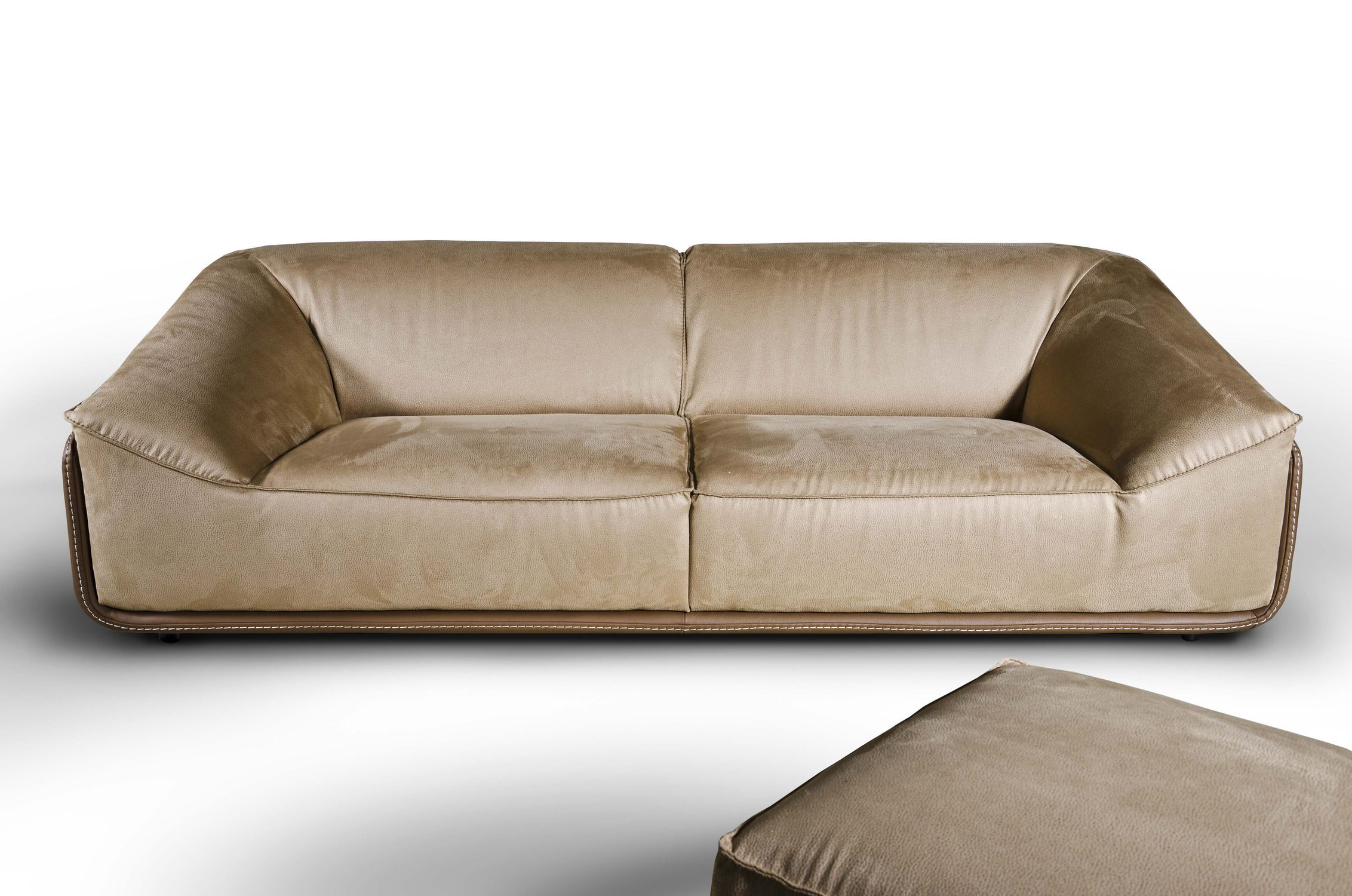 Contemporary sofa / leather / fabric / for public buildings ...