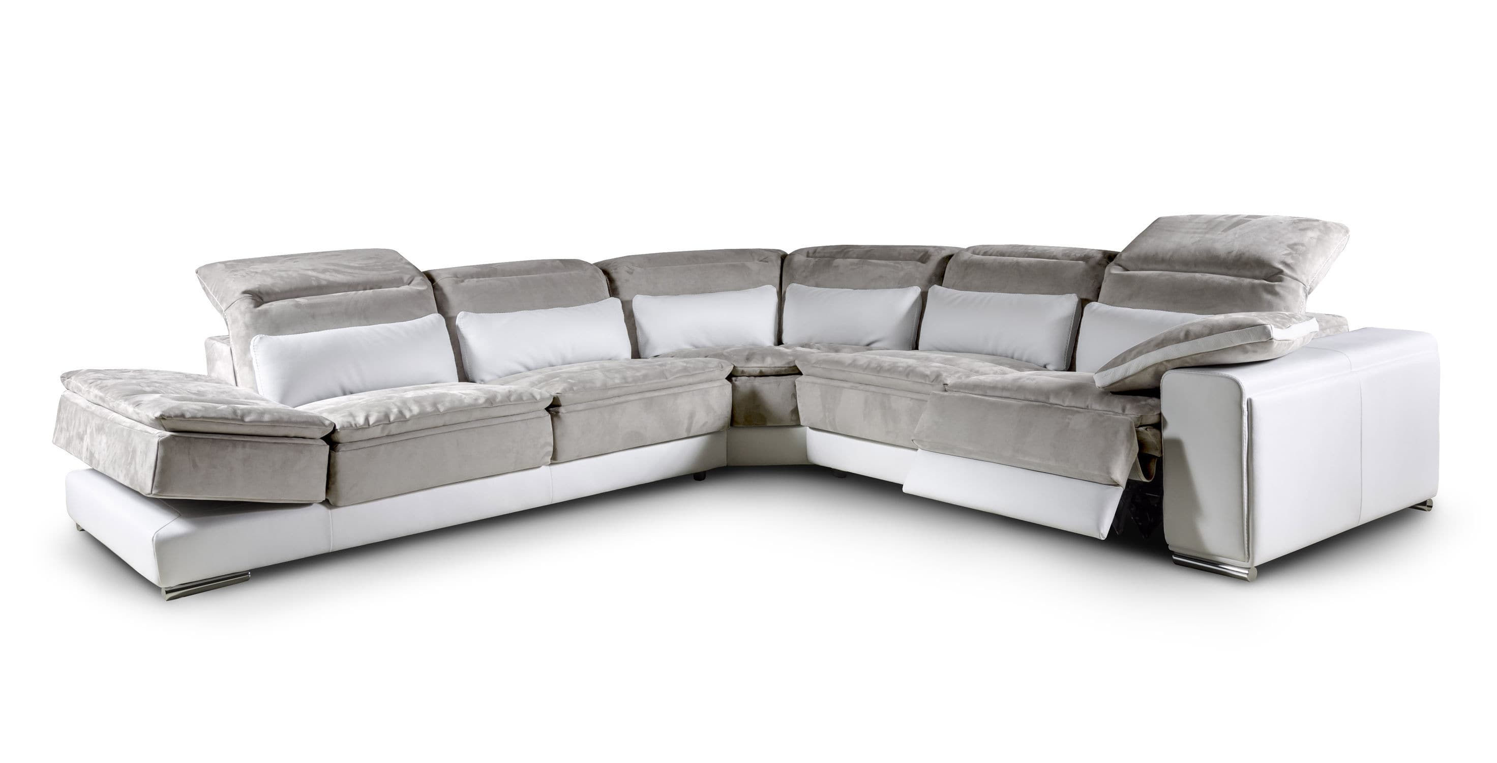 Corner sofa contemporary leather fabric BROOKLYN Nieri