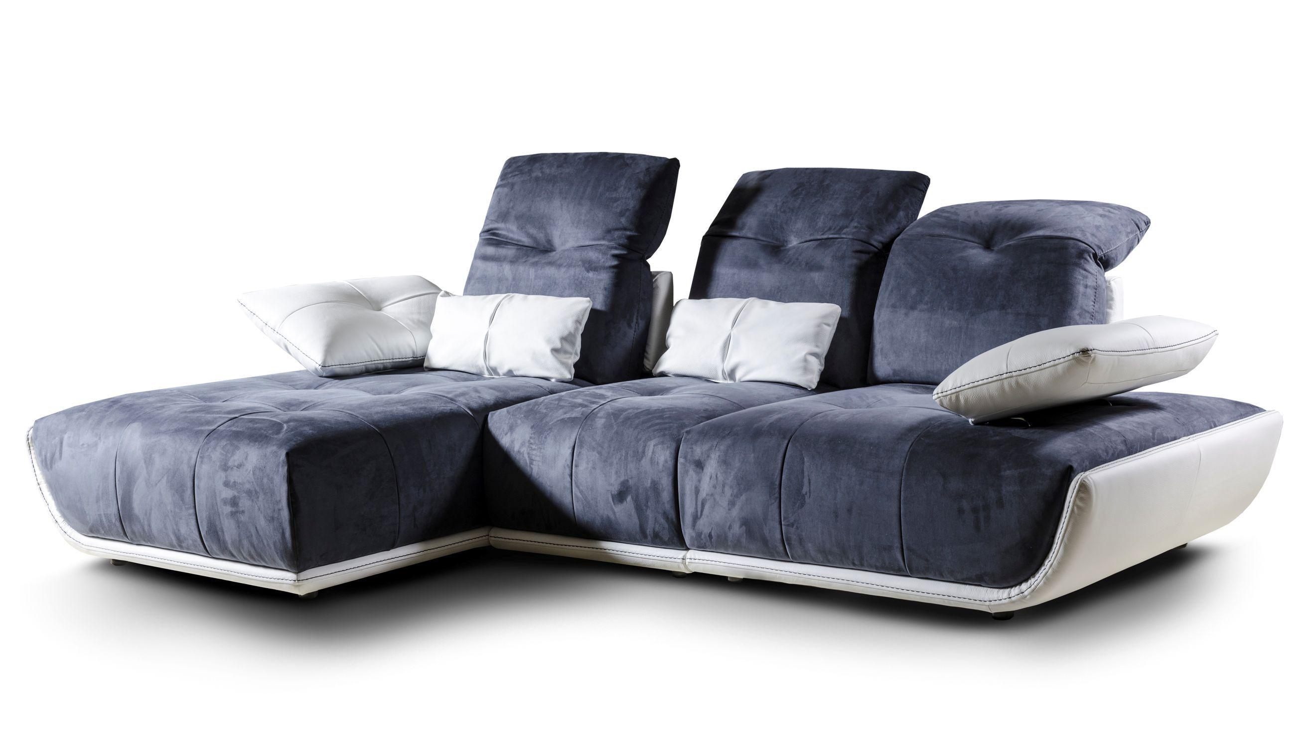 Modular sofa contemporary leather fabric CASSANDRA Nieri
