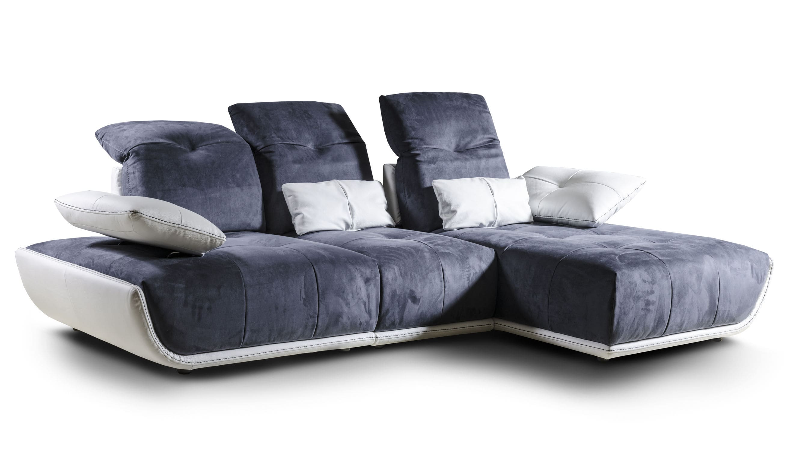 modular sofa leather fabric cassandra nieri