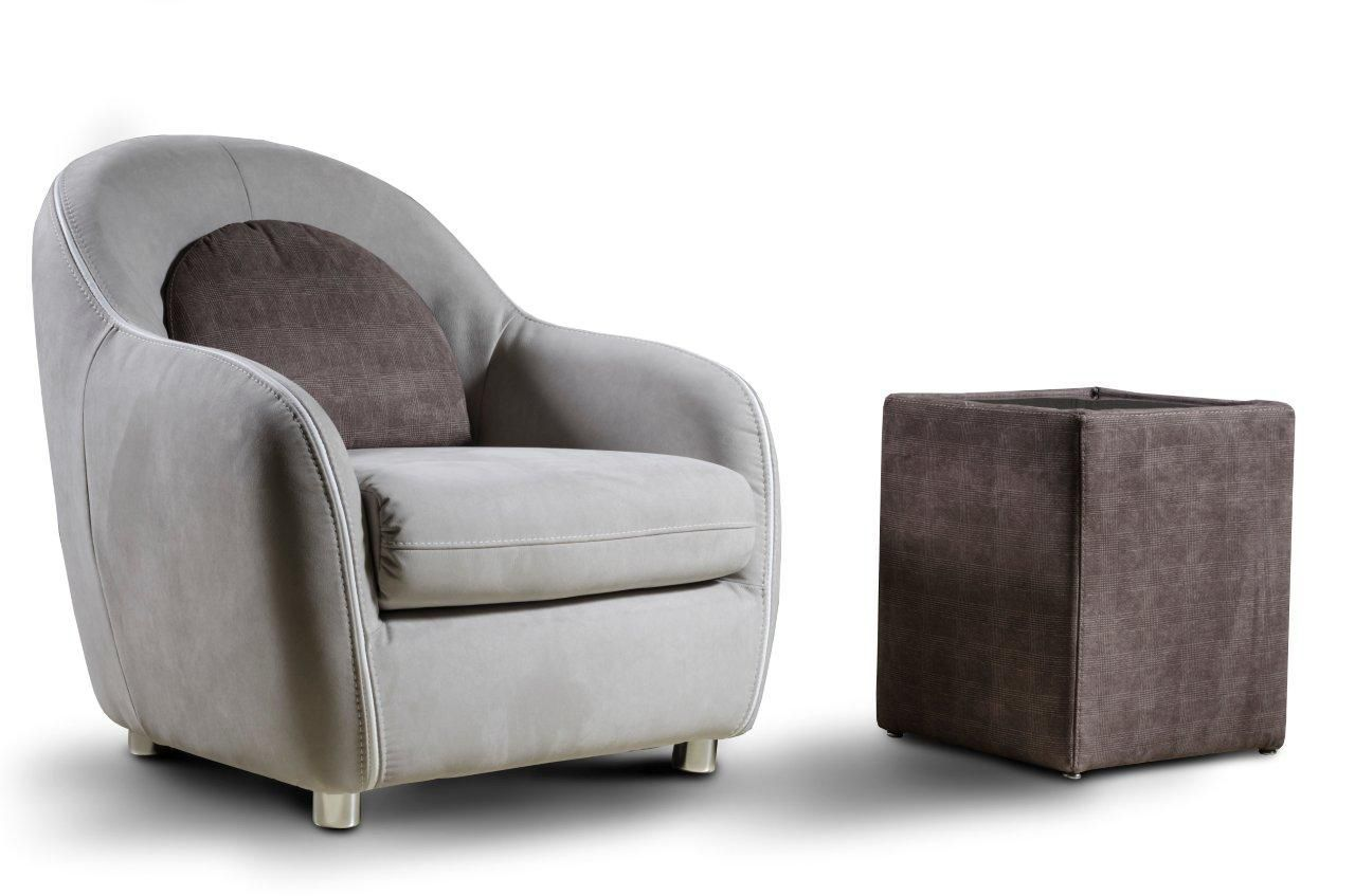 Traditional armchair -  Traditional Armchair Fabric Leather Commercial Cristina Nieri