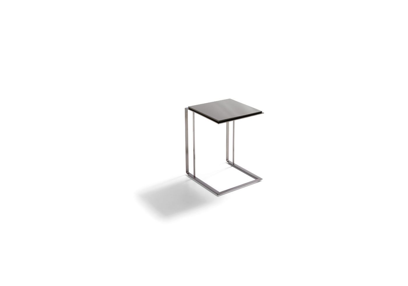 Contemporary Side Table / Wooden / Stainless Steel / Rectangular ...