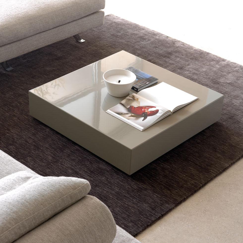 Contemporary Coffee Table / Lacquered MDF / Square   KUADRO By Archivio Dema