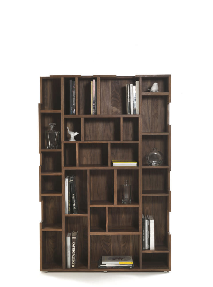 Contemporary Bookcase Solid Wood