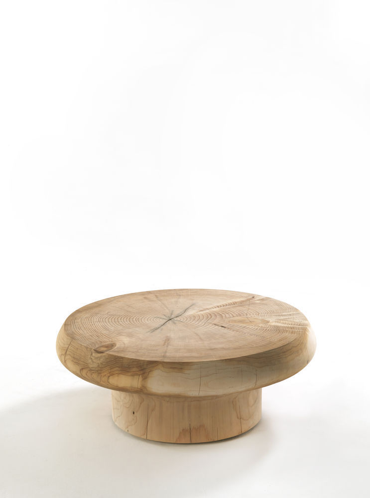 contemporary coffee table / solid wood / round - kenobibartoli