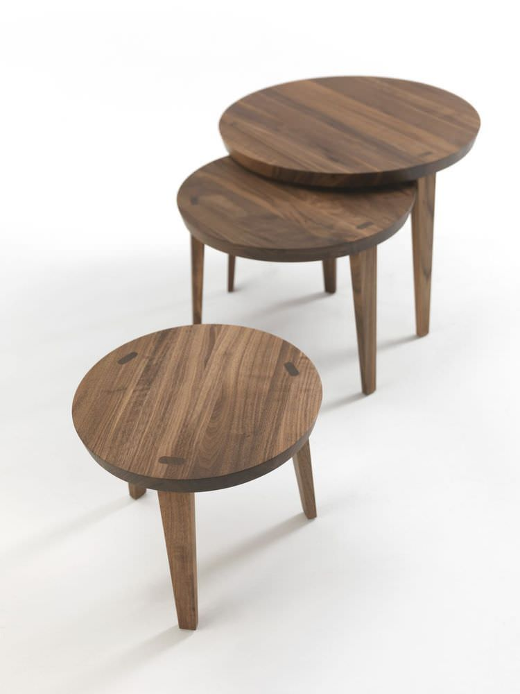 ... Contemporary Nesting Tables / Solid Wood / Round TAO 2014 Riva  Industria Mobili ...