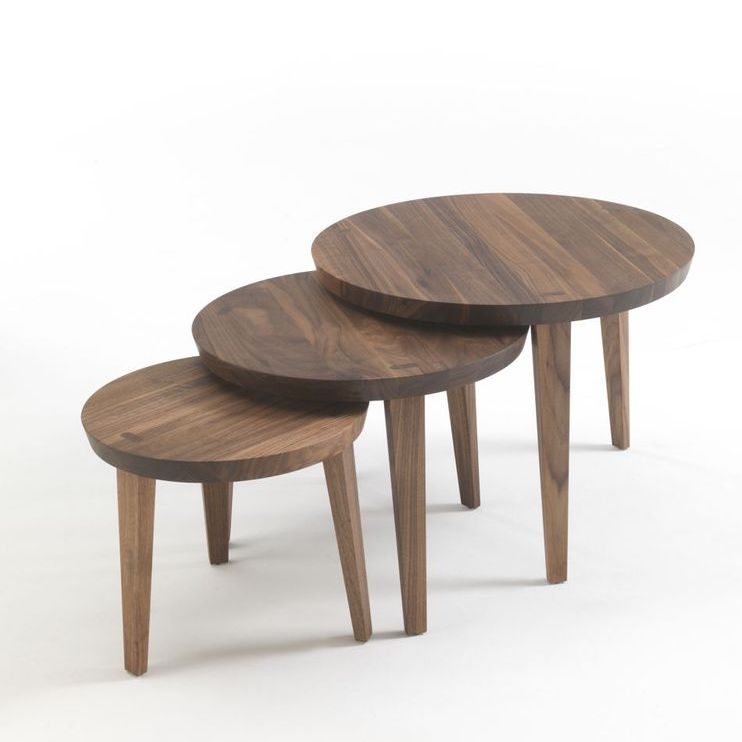 Contemporary Nesting Tables / Solid Wood / Round   TAO 2014