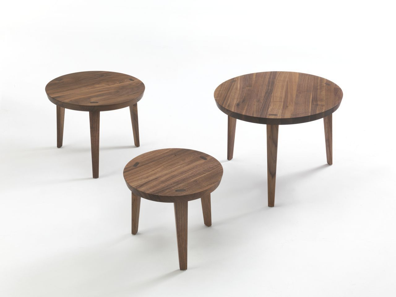 Superior Contemporary Nesting Tables / Solid Wood / Round ...