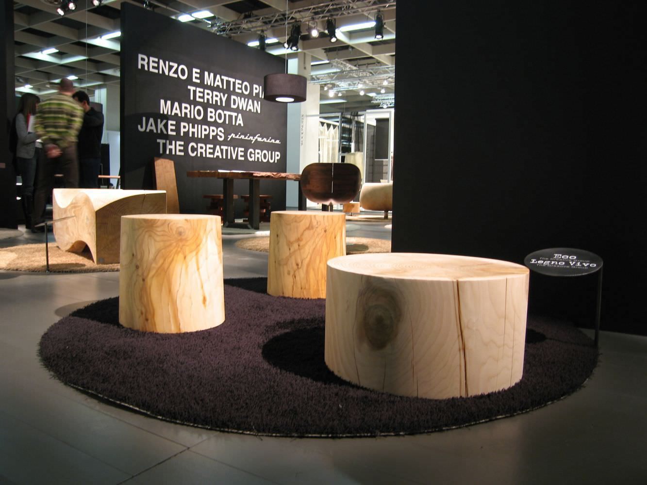 ... Contemporary Coffee Table / Solid Wood / Cedar / Round