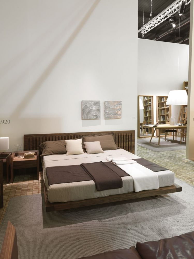 ... Double bed / contemporary / with headboard / wooden SOFT Riva Industria  Mobili ...