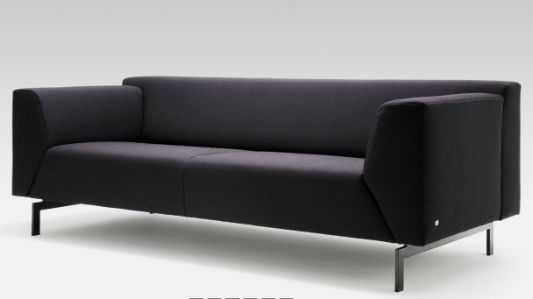 rolf benz ag. Contemporary Sofa / Leather Fabric 3-seater LINEA By Cuno Frommherz Rolf Benz Ag