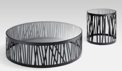 Contemporary coffee table / glass / steel / round - 8330 by ...