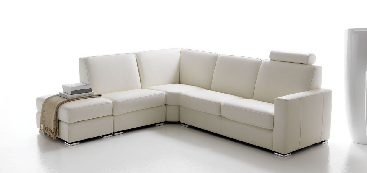 Modular Sofa Contemporary Leather 5 Person Cortina