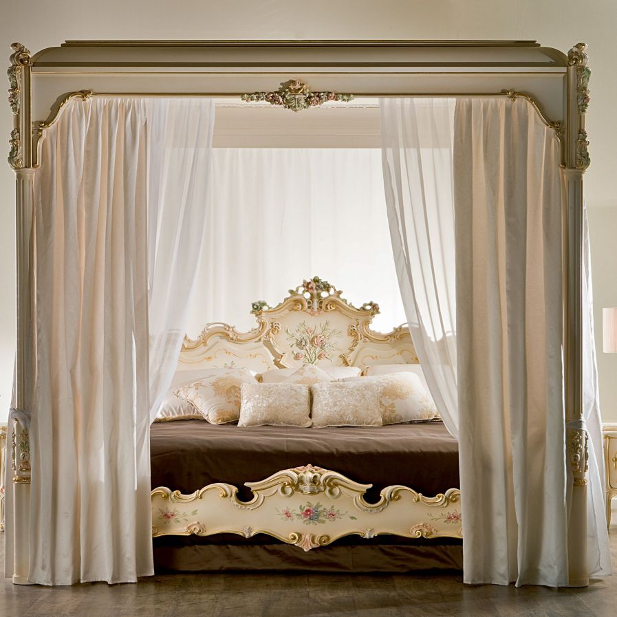 Canopy Bed Double Clic With Headboard Venere
