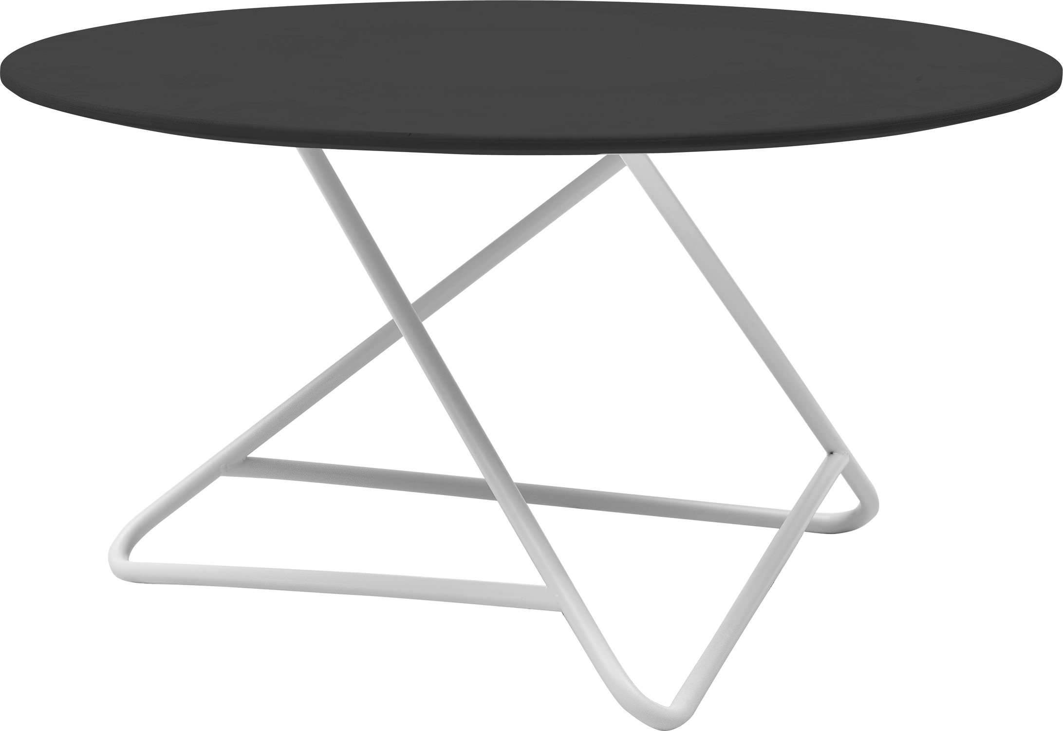 Contemporary coffee table metal round white TRIBECA by