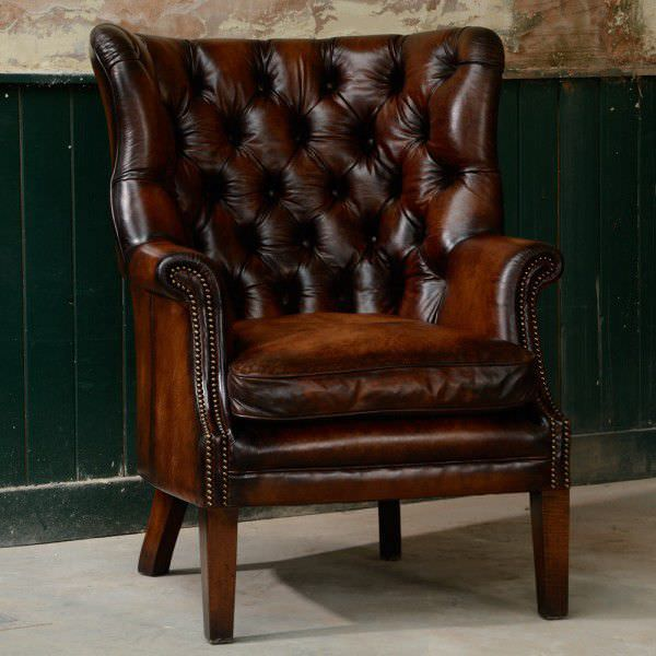 chesterfield chair chesterfield armchair leather wing bradley tetrad associates