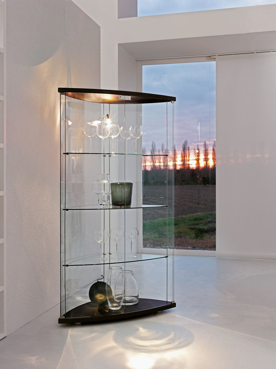 Bon ... Contemporary Display Case / Wooden / Glass / Illuminated