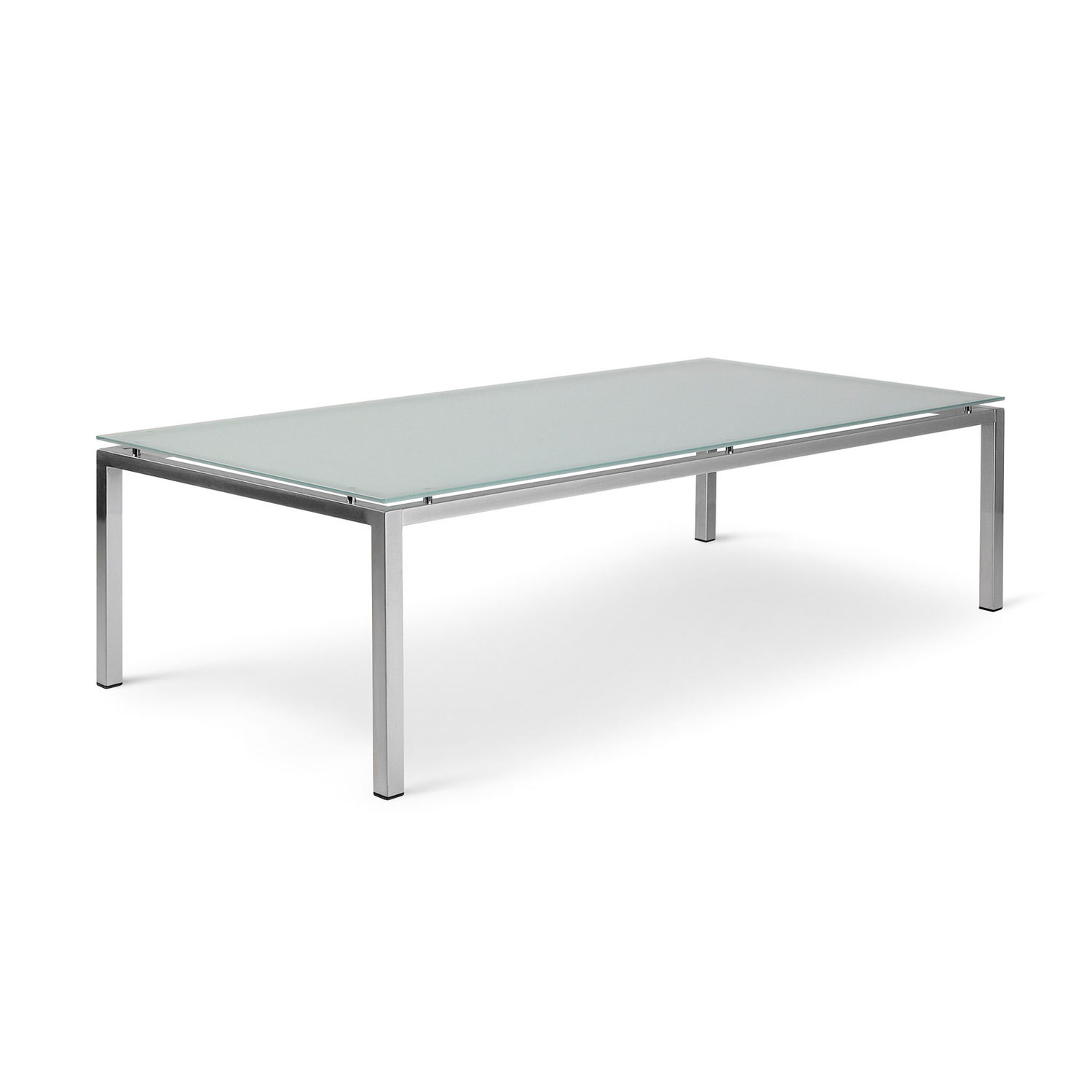 Contemporary coffee table tempered glass rectangular