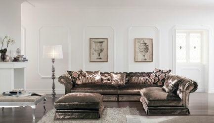 Modular Sofa Chesterfield Fabric 4 Seater Posh Island Valmori