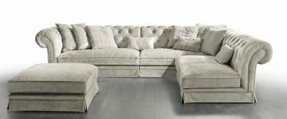 Modular sofa / Chesterfield / fabric / 4-seater POSH ISLAND Valmori ...