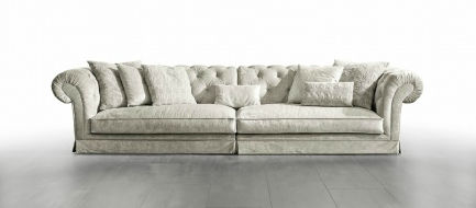 ... Modular sofa / Chesterfield / fabric / 4-seater POSH ISLAND Valmori