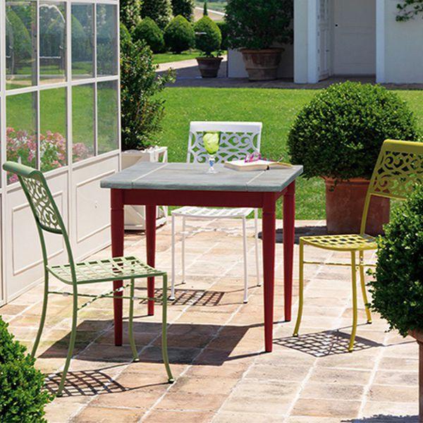 Traditional Garden Chair / Stackable / Metal   SW100