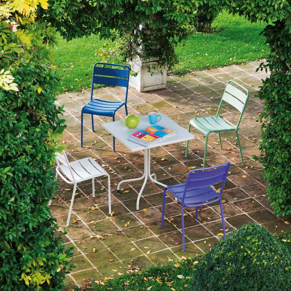 Traditional Garden Furniture Traditional garden chair stackable metal tw100 vermobil traditional garden chair stackable metal tw100 workwithnaturefo