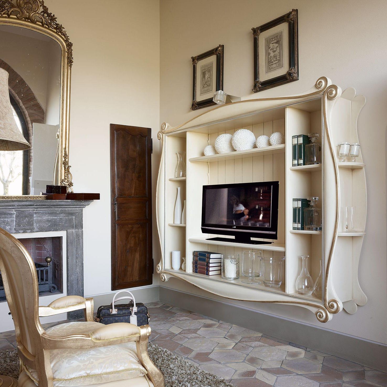 classic tv wall unit lacquered wood emma volpi rh archiexpo com