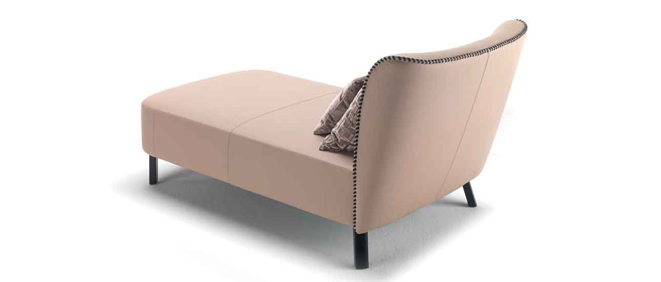 Contemporary chaise longue / fabric / leather - GIULIETTA - Zani ...