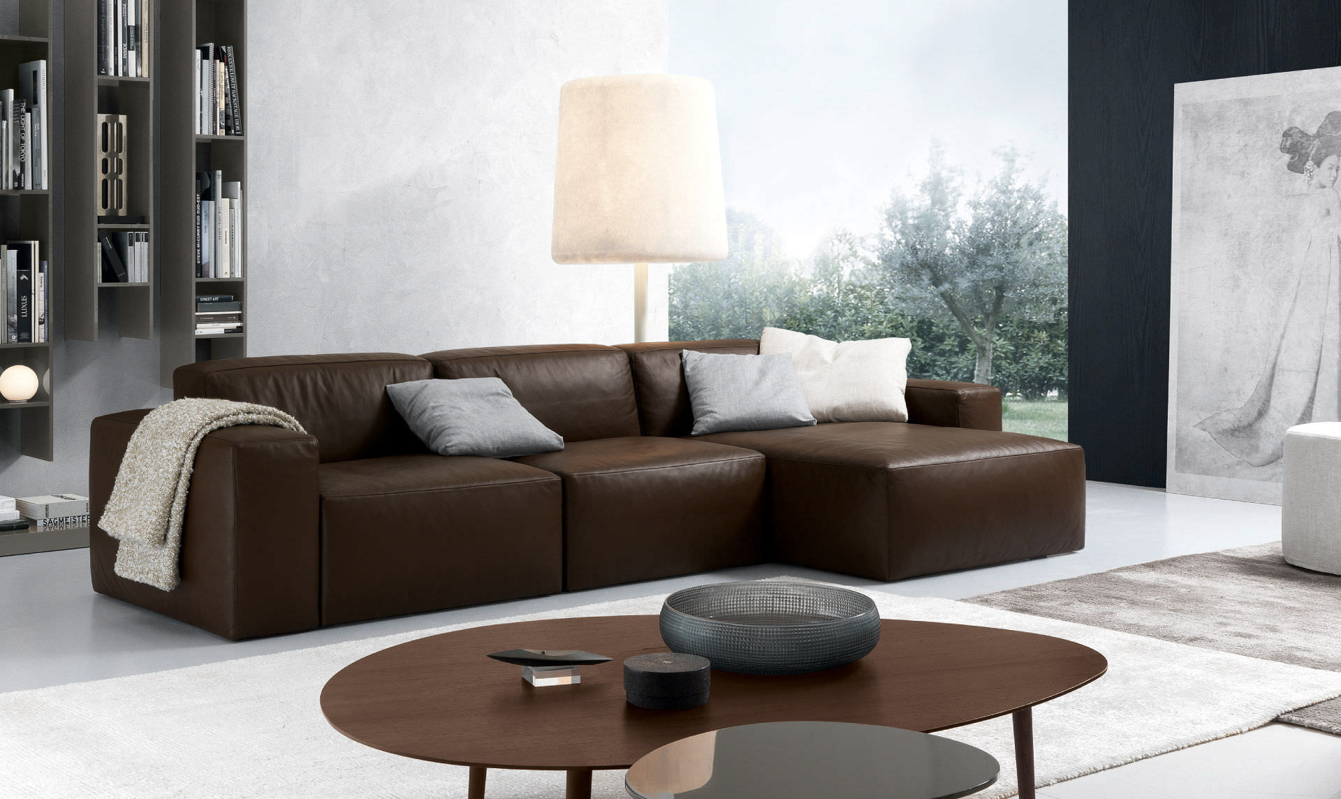 Corner Sofa / Contemporary / Leather / 3 Seater ...
