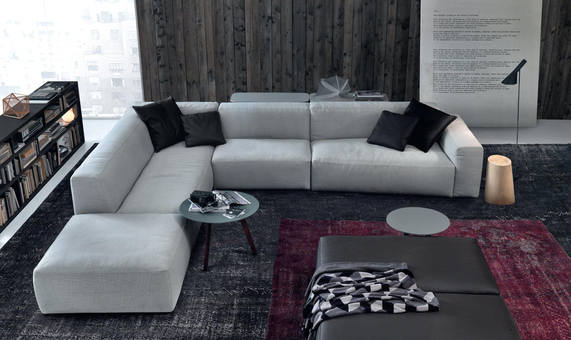 Corner Sofa Contemporary Leather 3 Seater