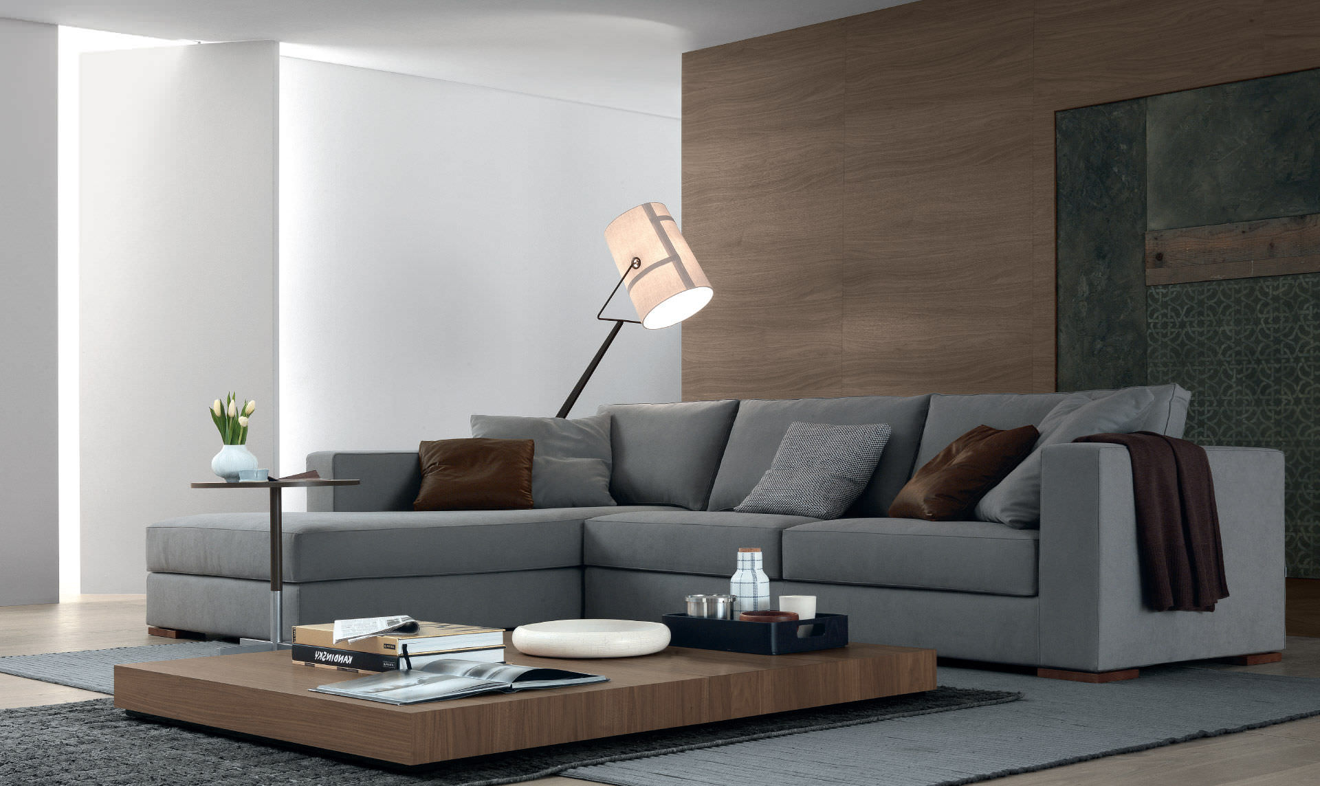 Corner Sofa Contemporary Polyurethane 3 Seater