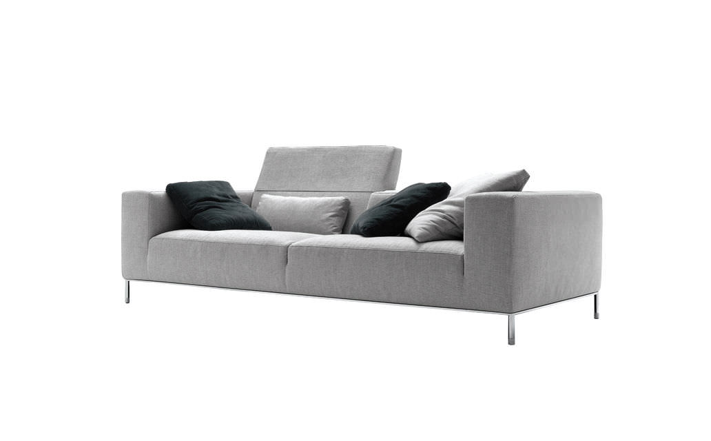 Contemporary Sofa Polyurethane 4 Seater Blue