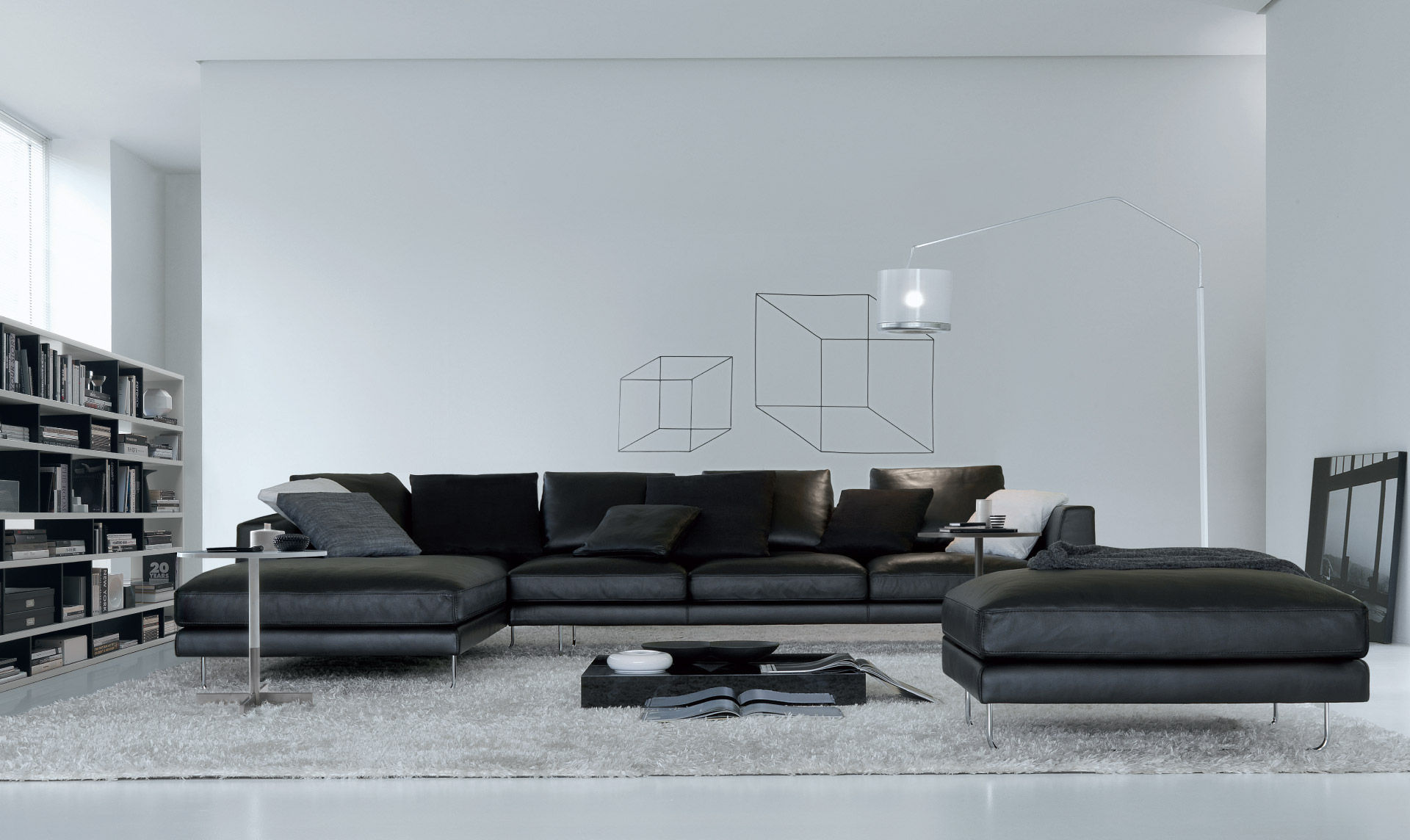 Modular Sofa Contemporary Leather Seater And Up BRIAN By - Sofa contemporain design