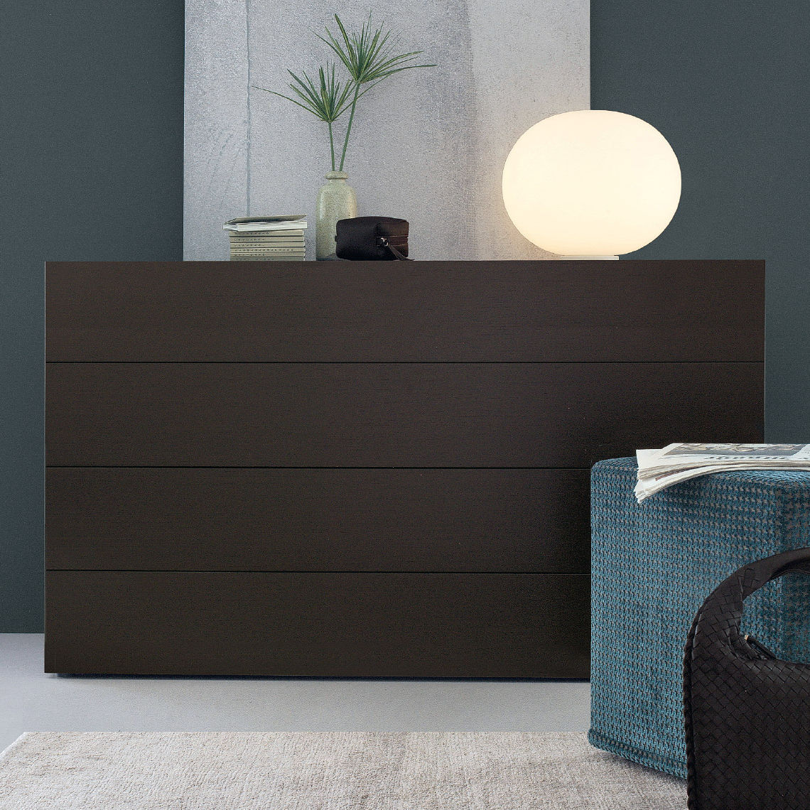 Contemporary chest of drawers   wooden   lacquered wood   black   NAP. Contemporary chest of drawers   wooden   lacquered wood   black