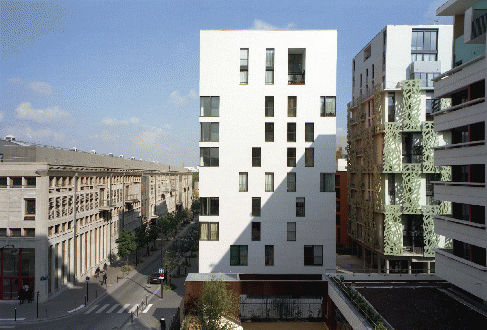 Fiber-reinforced concrete solar shading / for facades / perforated ...