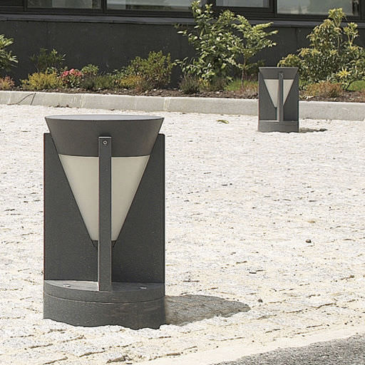 Urban bollard light / contemporary / cast aluminum / extruded ...