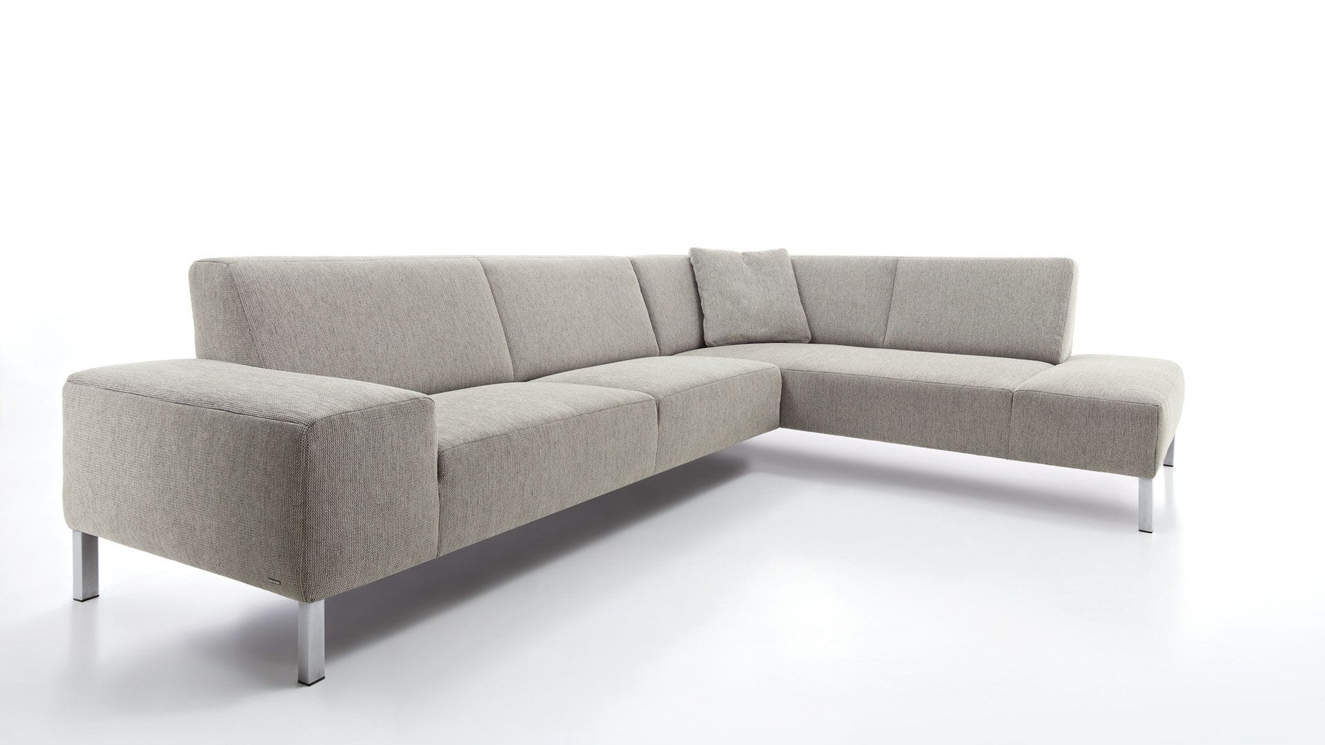 ... Corner Sofa / Contemporary / Leather / Fabric