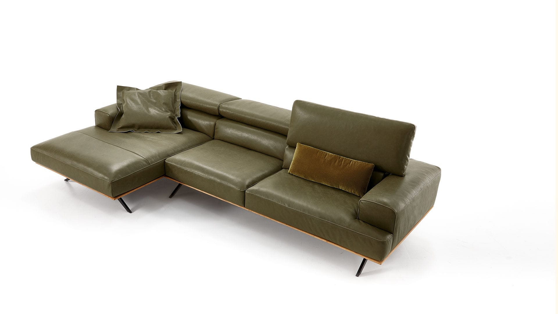Koinor Avanti contemporary sofa leather solid wood 2 seater harris koinor
