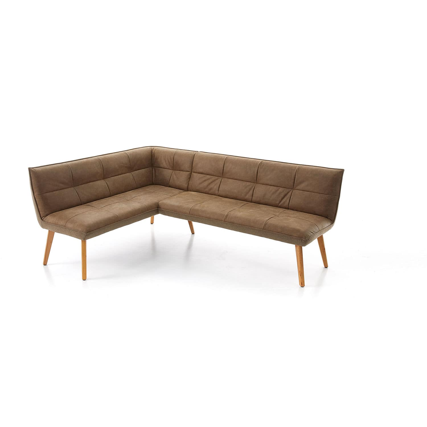 Contemporary Upholstered Bench Leather Wooden With Backrest