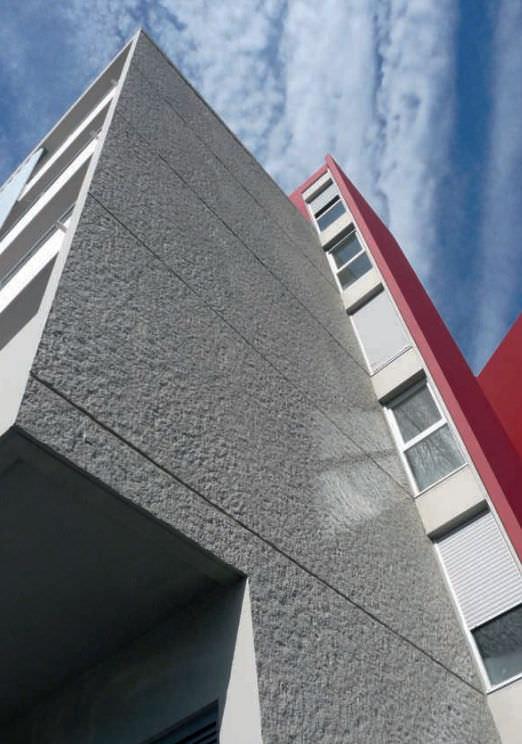 Facade form liner / stone look / stamped concrete - FICHTELBERG