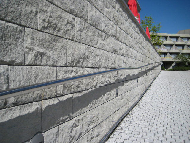 ... Retaining Wall Form Liner / Stone Look / Stamped Concrete POMMERN  RECKLI ...
